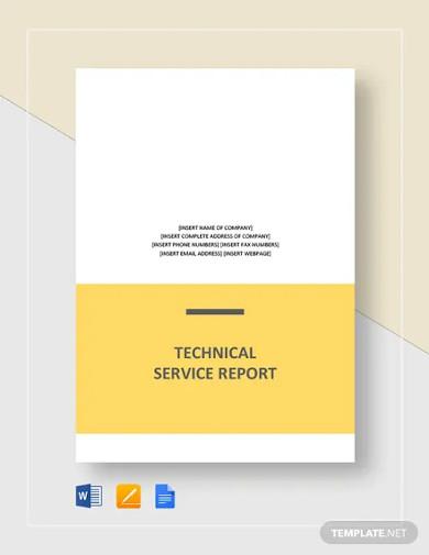 technical service report template