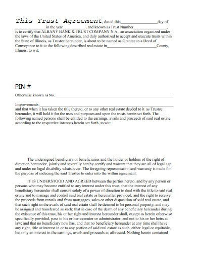 trust agreement in pdf