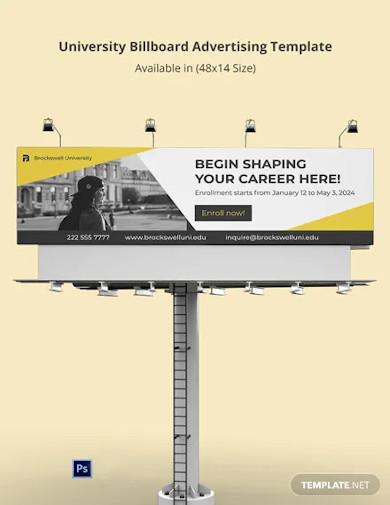 university billboard advertising template