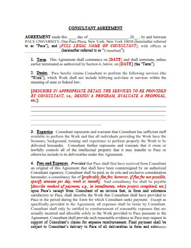 university consultant agreement template