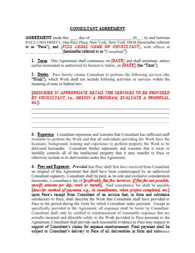 university consultant agreement template