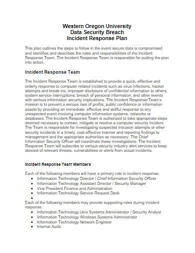 university incident response plan