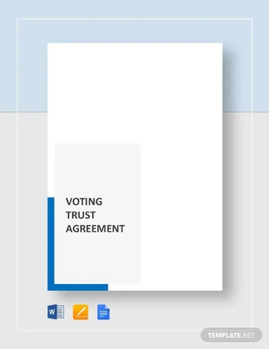 voting trust agreement template