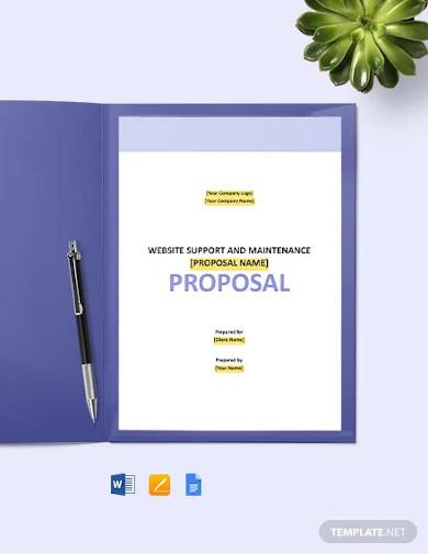 website support maintenance proposal template