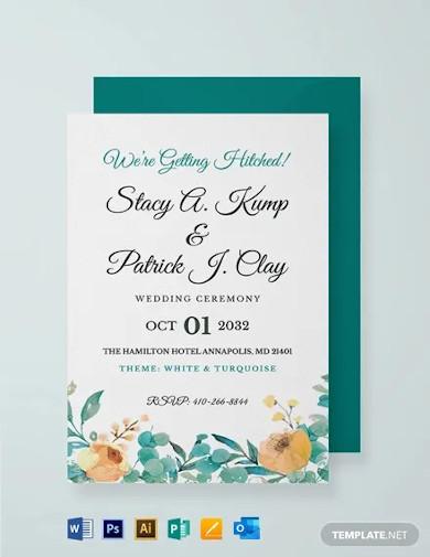 wedding ceremony invitation card template