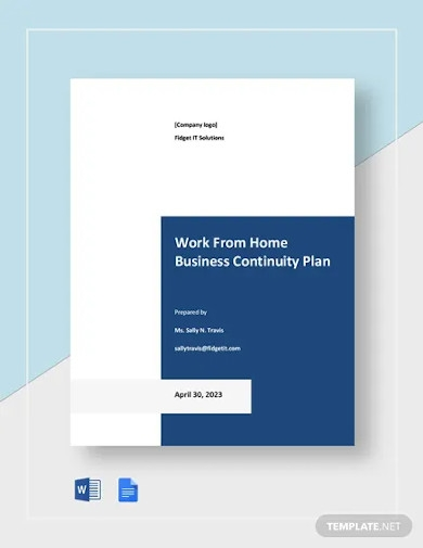 work from home business continuity plan