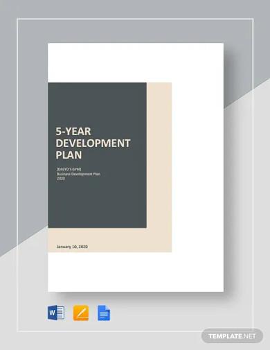 5 year development plan template