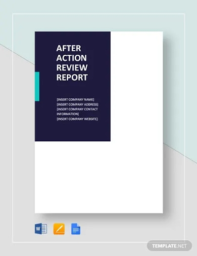 after action review report template