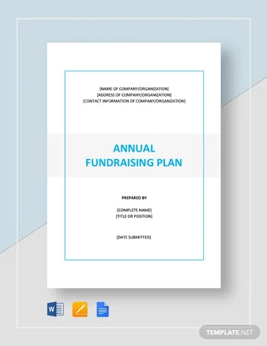 annual fundraising plan template