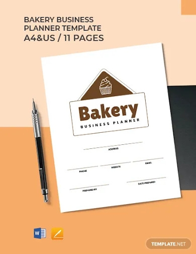 bakery business planner template