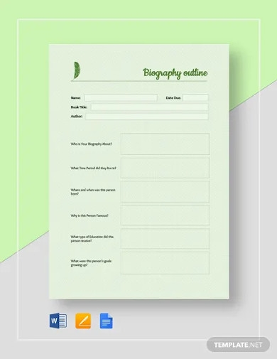 basic biography outline template