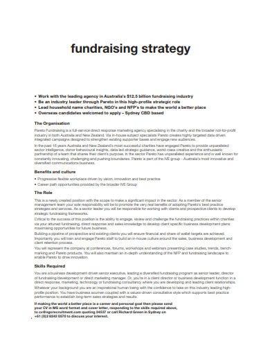 basic charity fundraising strategy
