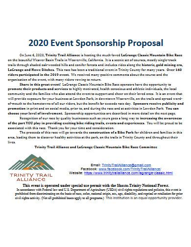 basic event sponsorship proposal