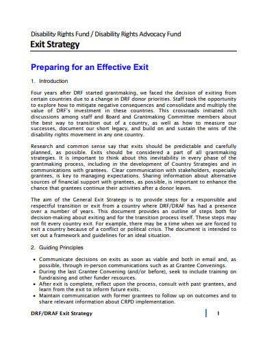 basic exit strategy