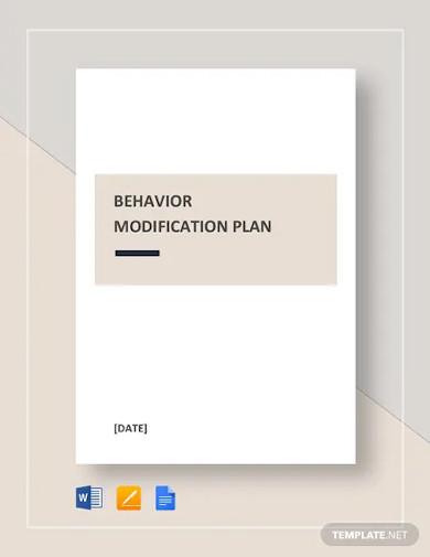 behavior modification plan template