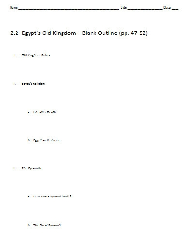 blank outline example