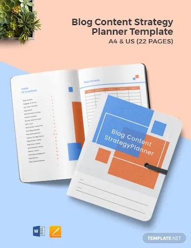 blog content strategy template