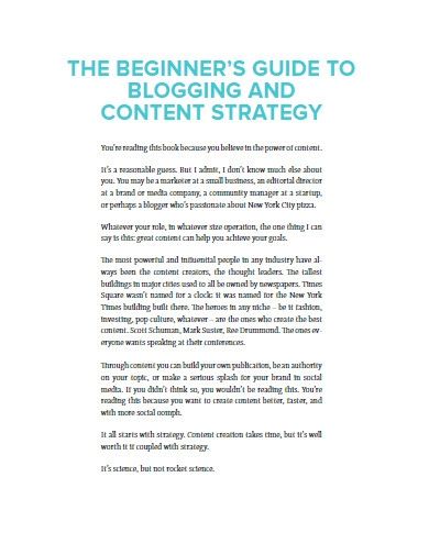 blogging content strategy template