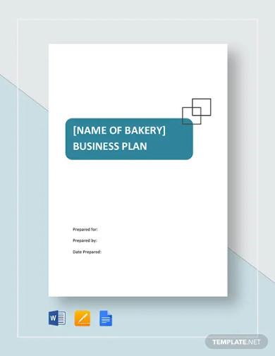 bread bakery business plan template