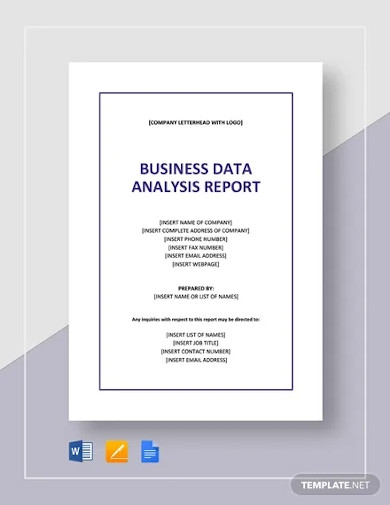 business data analysis report template
