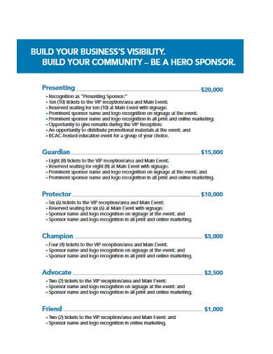 business event sponsorship proposal