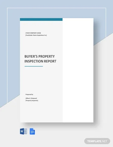buyers property inspection report template