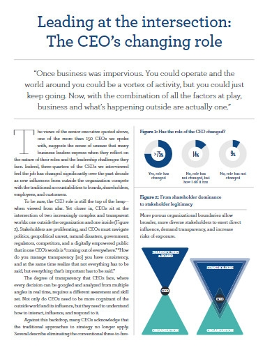 ceo report template