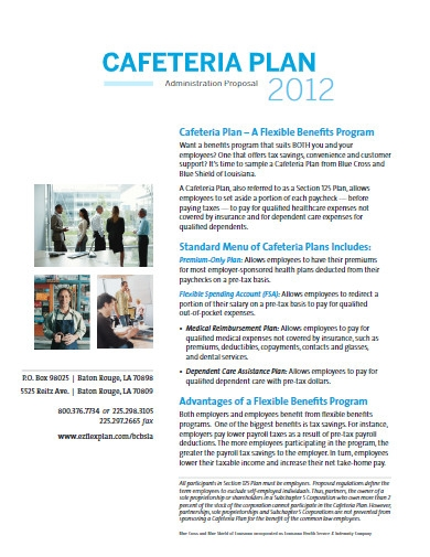 cafeteria business plan template