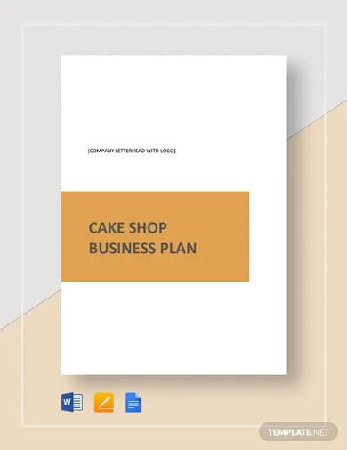 cake shop business plan template