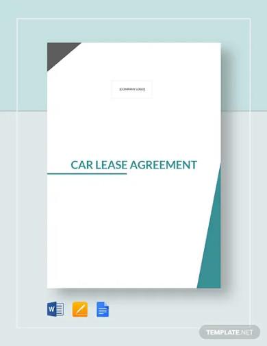 car lease agreement templates