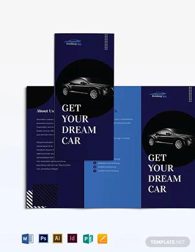 car sale brochure template