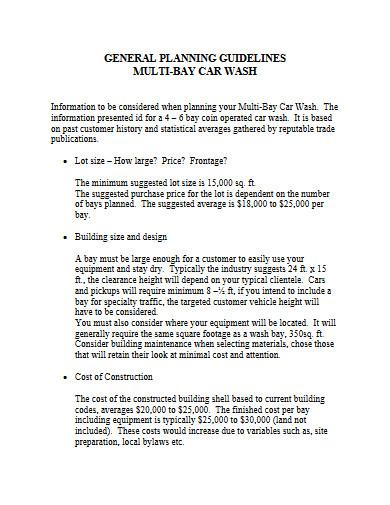 car wash business plan format