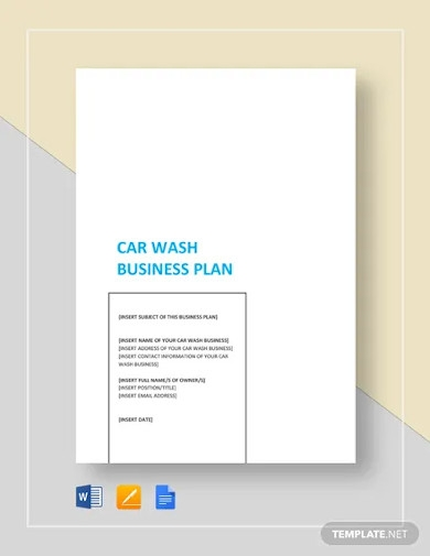 car wash business plan template