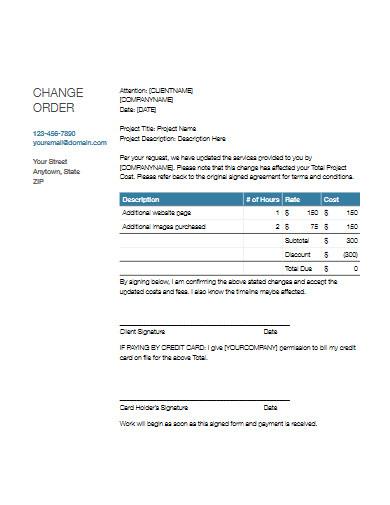 change order example
