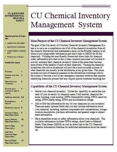 chemical inventory management system in pdf
