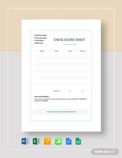 chess score sheet template