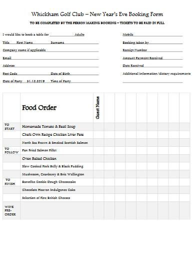 club food order