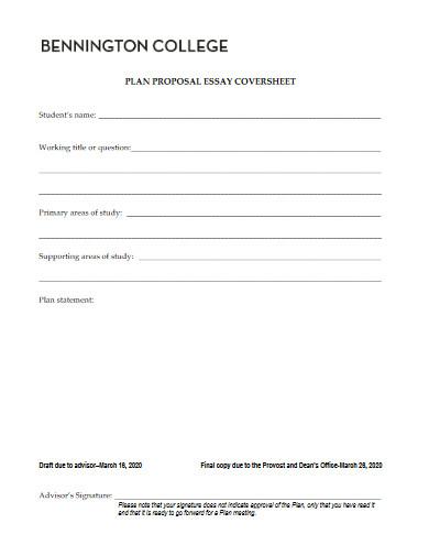 college plan proposal