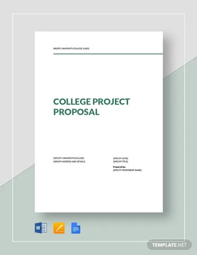 college project proposal template