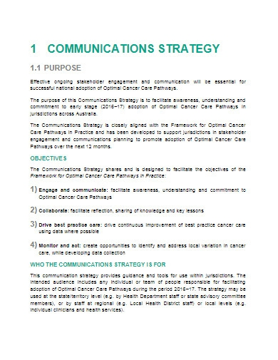 communications strategy in pdf