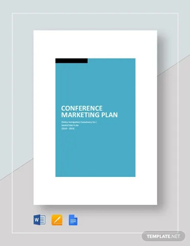 conference marketing plan template