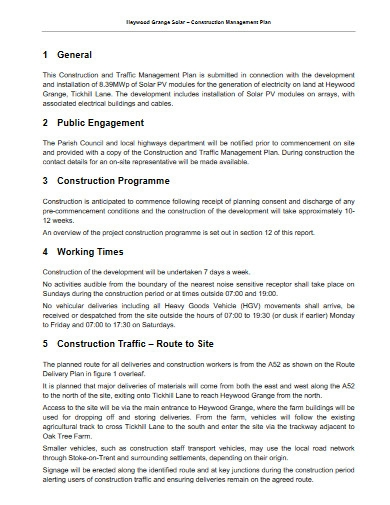 construction management plan in pdf