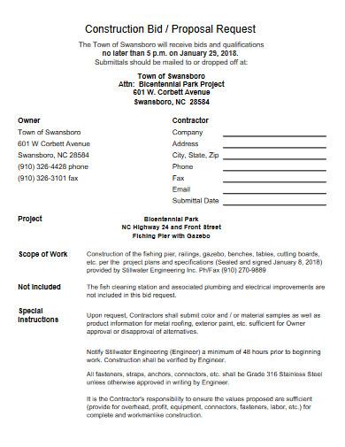 construction proposal request