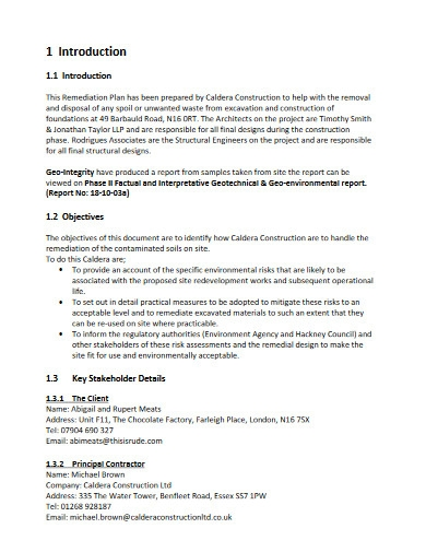 construction remediation plan