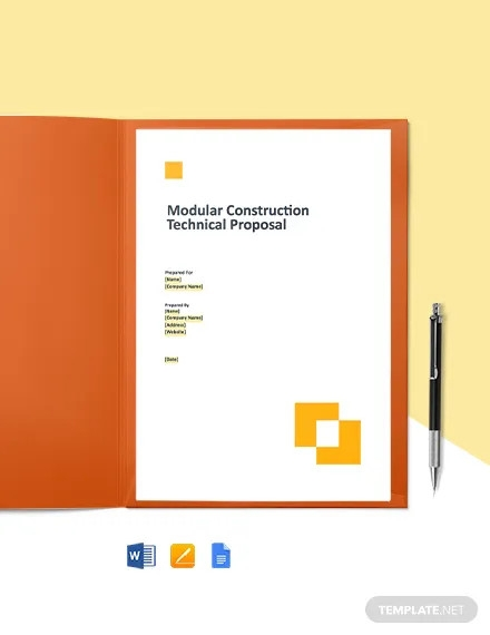 construction technical proposal template