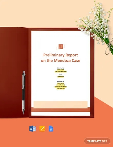 consulting company report template