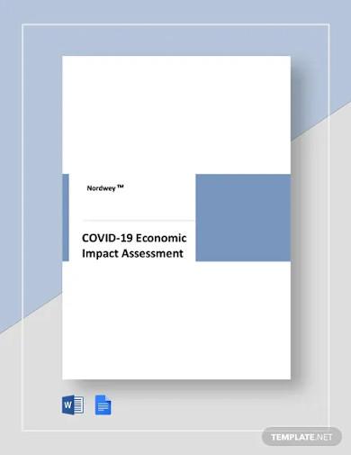 coronavirus covid 19 economic impact assessment template