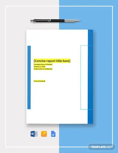 corporate research report template