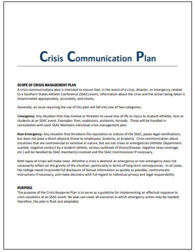 crisis communication plan in pdf