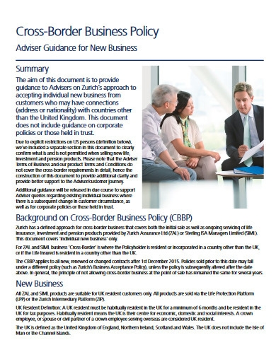 cross border business policy